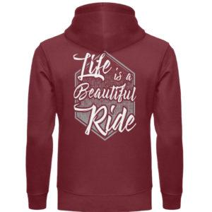 Cars Sucks - Life is a beautiful Ride - Unisex Organic Hoodie-6883